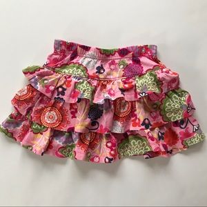 Hanna Andersson Pink Cotton Floral Skirt Sz 100 4